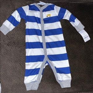Carters 3 months striped button down onesie